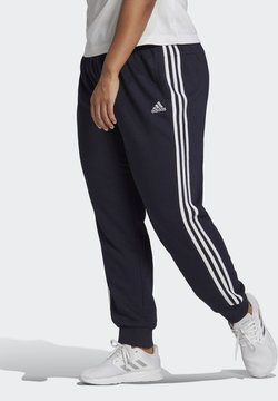 adidas Performance - ADIDAS ESSENTIALS FRENCH TERRY 3-STRIPES PANTS (PLUS SIZE) - Jogginghose - legink/white