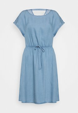 TOM TAILOR DENIM - CHAMBRAY DRESS - Jerseykleid - light stone/bright blue denim