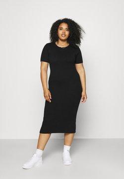NU-IN - SHORT SLEEVE DRESS - Jumper dress - black