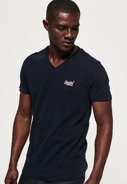 Superdry - VINTAGE  - T-Shirt basic - dunkel marineblau