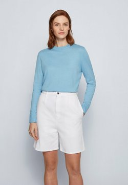 BOSS - FIBINNA - Stickad tröja - light blue