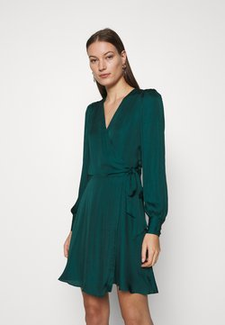 Banana Republic - VNECK WRAP SOLID - Cocktail dress / Party dress - glen green