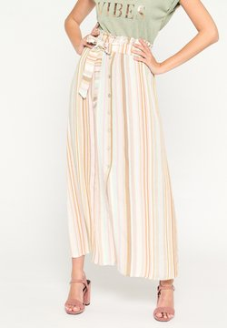LolaLiza - IN STRIPES AND CROPPED WAIST - A-Linien-Rock - nude