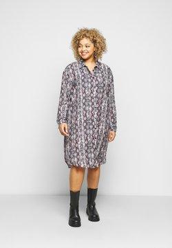 New Look Curves - CHAIN PRINT SHIRT DRESS - Blusenkleid - brown pattern