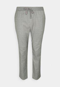 Only & Sons - ONSLINUS PANT CHECK LONG  - Stoffhose - light grey melange