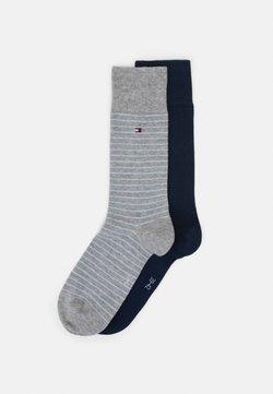 Tommy Hilfiger - MEN SMALL STRIPE SOCK 2 PACK - Socken - light grey melange