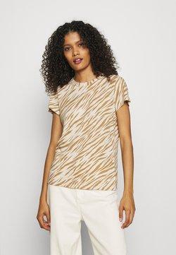 Banana Republic - COZY SLUB CREW - T-Shirt print - beige/light brown