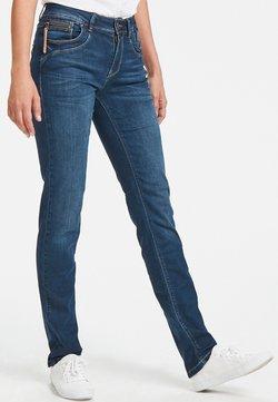 PULZ - KAROLINA HIGHWAIST - Straight leg -farkut - medium blue