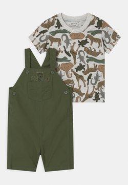 Carter's - SHORTALL SET - T-shirt imprimé - khaki