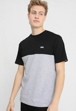 Vans - MN COLORBLOCK - T-shirt con stampa - black athletic heather