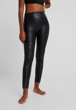Spanx - QUILTED - Leggings - Strümpfe - very black