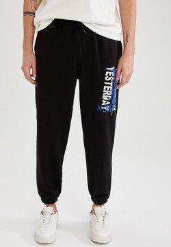 DeFacto - OVERSIZED - Pantalon de survêtement - black