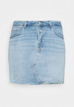 Levi's® Plus - DECONSTRUCTED SKIRT - Minirock - light blue denim