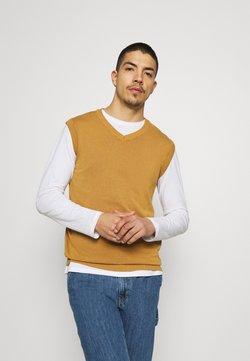 Redefined Rebel - FREDDIE WAISTCOAT - Sweter - bone brown
