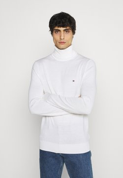 Tommy Hilfiger Tailored - FINE GAUGE LUXURY ROLL - Strickpullover - white