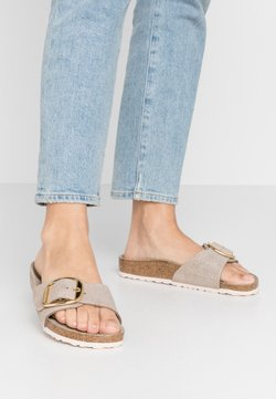 Birkenstock - MADRID BIG BUCKLE - Hausschuh - washed metallic/rose gold