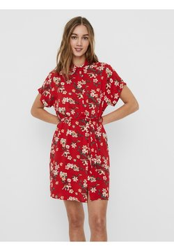Vero Moda - Vestido camisero - goji berry