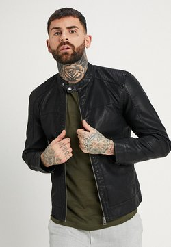Only & Sons - ONSMIKE RACER JACKET - Veste en similicuir - black
