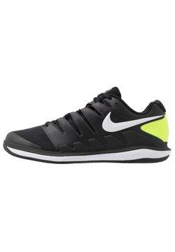 Nike Performance - AIR ZOOM VAPOR - Buty tenisowe na nawierzchnię ziemną - black/white/volt