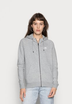 Nike Sportswear - HOODIE - Sweatjacke - grey heather/white