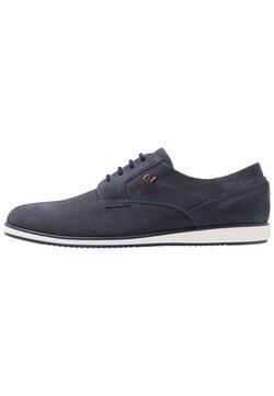 Pier One - LEATHER - Zapatos con cordones - dark blue