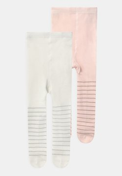 OVS - STRIPED 2 PACK - Collant - soft pink/silver