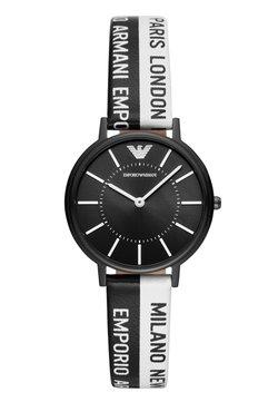 Emporio Armani - Uhr - black/white
