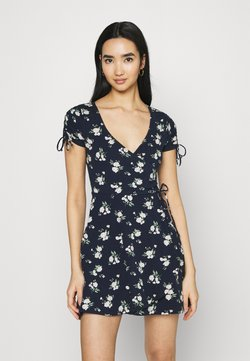 Hollister Co. - DRESS - Trikoomekko - navy floral