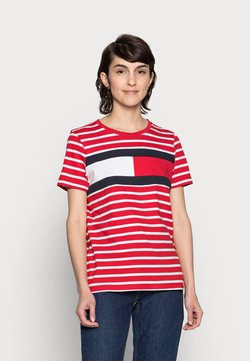 Tommy Hilfiger - TEE REGULAR FIT FLAG - T-Shirt print - classic brenton/primary red