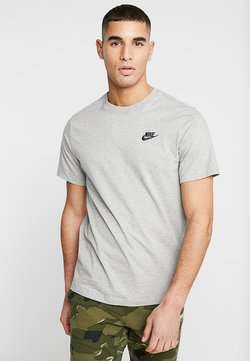 Nike Sportswear - CLUB TEE - T-shirt - bas - dark grey heather/black