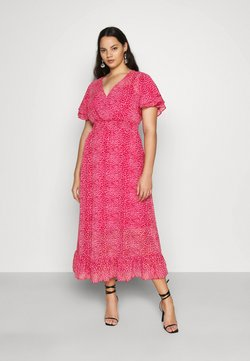 Dorothy Perkins Curve - ANIMAL DRESS - Freizeitkleid - pink