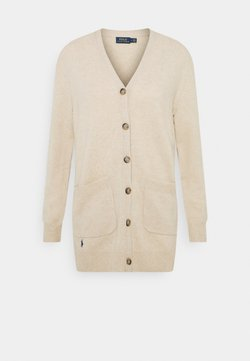 Polo Ralph Lauren - CARDIGAN LONG SLEEVE - Kardigan - tallow cream
