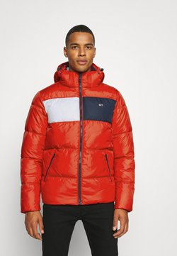 Tommy Jeans - COLORBLOCK PADDED JACKET - Winterjacke - deep crimson