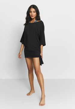 MICHAEL Michael Kors - ICONIC SOLIDS SIDE TIE COVER UP - Beach accessory - black