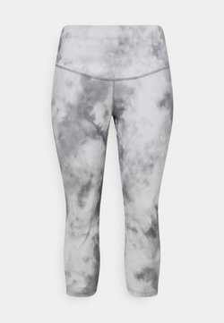 Nike Performance - ONE CROP PLUS - Tights - smoke grey/white