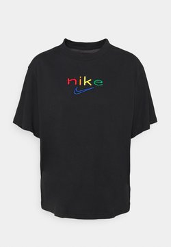 Nike Performance - DRY TEE BOXY RAINBOW - T-Shirt print - black