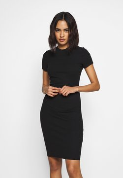 Cotton On - GISELLE SHORT SLEEVE DRESS - Vestido de tubo - black