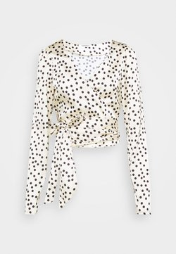 Glamorous - DRAPE WRAP WITH LONG SLEEVES PLUNGING NECKLINE - Bluse - polka