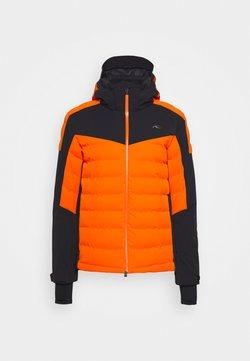 Kjus - MEN SIGHT LINE JACKET - Skidjacka - orange/black