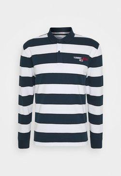Tommy Jeans - LONGSLEEVE STRIPE - Polo - twilight navy