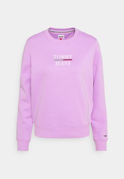 Tommy Jeans - LOGO CREW - Sweatshirt - fresh orchid