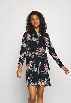 Vero Moda - VMSAGA COLLAR DRESS  - Blusenkleid - navy blazer