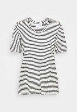 Selected Femme - SLFBELIVE TEE - T-Shirt print - snow white/black