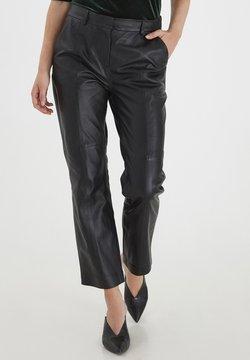 b.young - BYDARA  - Pantalon en cuir - black