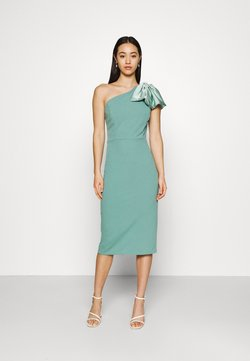 WAL G. - KASSIE BOW DETAIL MIDI DRESS - Vestido ligero - sage green
