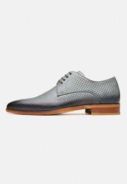 Melik Shoes - Veterschoenen - jeansblauw