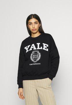 Even&Odd - YALE College Print Oversized Sweatshirt - Sweatshirts - black