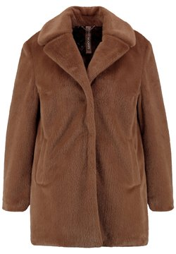 Samoon - WEICHEM FAKE FUR - Winterjacke - coffee grain