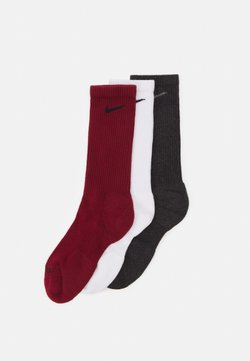 Nike Performance - EVERYDAY PLUS CUSH CREW 3 PACK UNISEX - Calcetines de deporte - team red/white/black heather