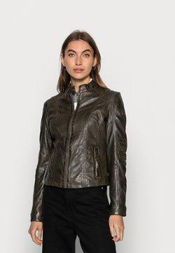 Gipsy - JUANA LONTV - Leather jacket - olive green